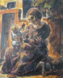"""Erich Fraass' """"Mother and Child"""" (1922)"""
