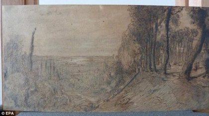 """Theodore Rousseau's """"Vue de la Vallee de la Seine"""" (Undated"""