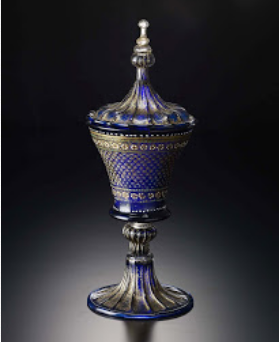 """Goblet and cover with colored enamels and gilt"" 1500AD"